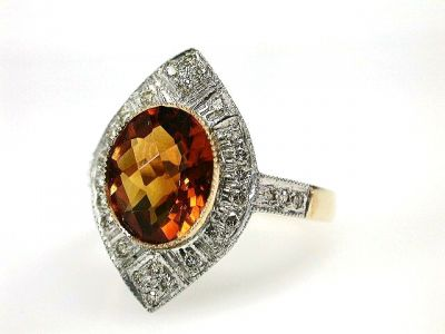 2015 ML Facets/Citrine and Diamond Ring CFA1210258 69245