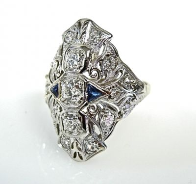 2015 ML Facets/Diamond Art Deco Ring CFA150141 79022
