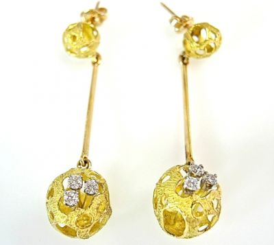 2015 ML Facets/Diamond Drop Earrings CFA1502120 79125