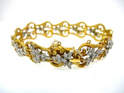 2015 ML Facets/Diamond Floral Bracelet CFA1402123 74791