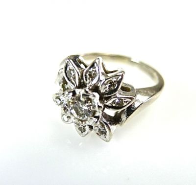 2015 ML Facets/Diamond Floral Ring CFA141039 78726