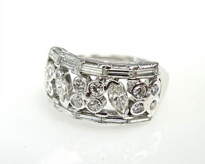 Diamond Openwork Floral Ring
