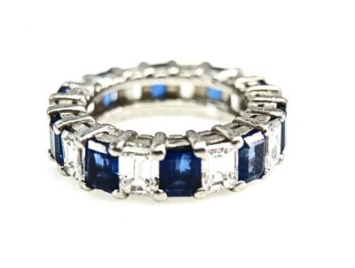 2015 ML Facets/Diamond and Sapphire Eternity Ring CFA1502117 79121 a