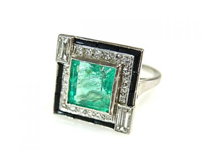 2015 ML Facets/Emerald and Diamond Art Deco Ring CFA1502119 79123 b