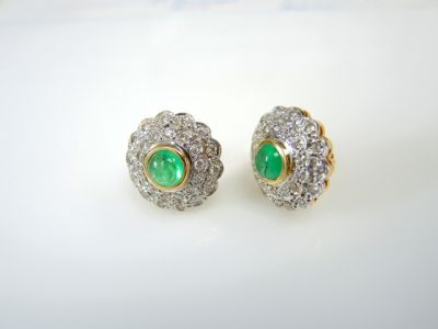 2015 ML Facets/Emerald and Diamond Earrings CFA1312238 74248