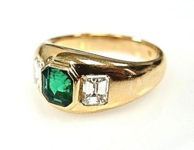2015 ML Facets/Emerald and Diamond Ring CFA1412147 78915