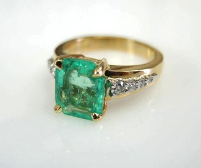 2015 ML Facets/Emerald and Diamond Ring CFA1502126 79131