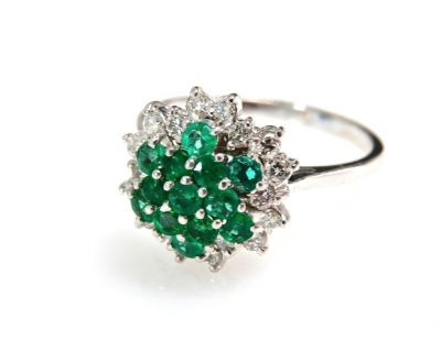 2015 ML Facets/Emerald and Diamond Ring CFA1503105 79194
