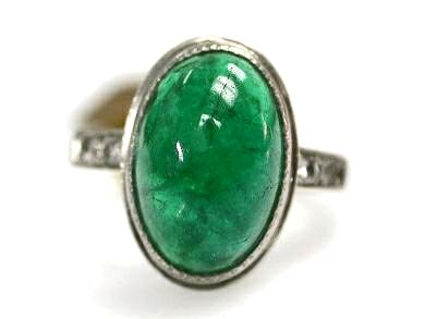 2015 ML Facets/Emerald and Diamond Vintage Ring CFA110666 79269