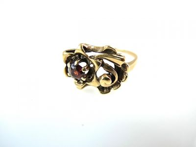 2015 ML Facets/Garnet Floral Ring CFA1405254 77918
