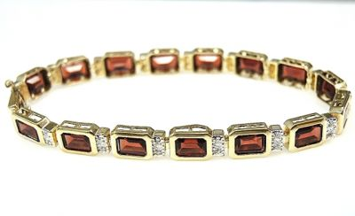 2015 ML Facets/Garnet and Diamond Bracelet CFA1407313 78401