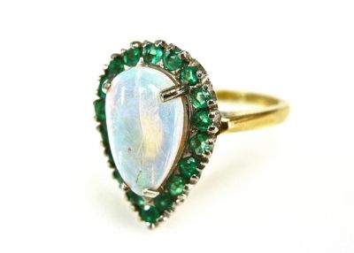 2015 ML Facets/Opal and Emerald Vintage Ring CFA1503137 79236
