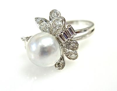2015 ML Facets/Pearl and Diamond Ring CFA1412123 78865