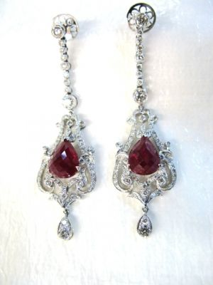 2015 ML Facets/Ruby and Diamond Earrings CFA1402128C 74796 a