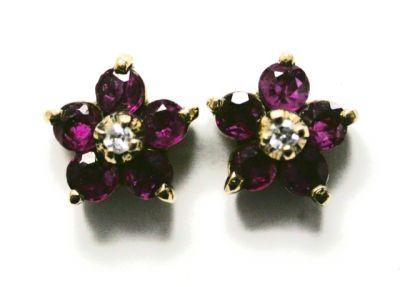2015 ML Facets/Ruby and Diamond Earrings CFA140403 75448