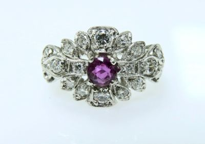 2015 ML Facets/Ruby and Diamond Ring CFA141220 78883