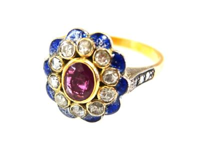 2015 ML Facets/Ruby and Diamond Vintage Ring CFA1503136 79234
