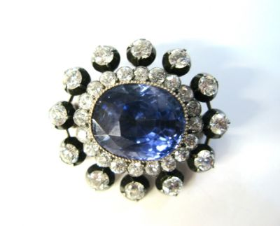 2015 ML Facets/Sapphire and Diamond Brooch CFA071252C 73085 b