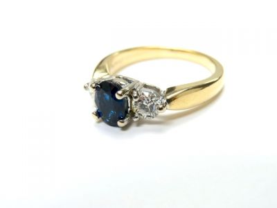 2015 ML Facets/Sapphire and Diamond Engagement Ring CFA150234 79104