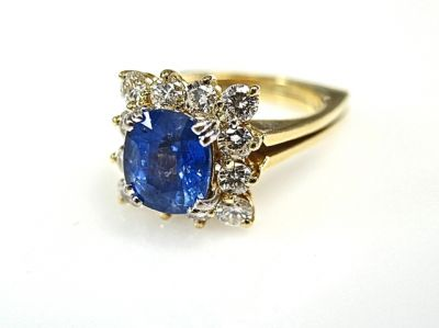 2015 ML Facets/Sapphire and Diamond Ring CFA1502106 79115