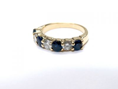 2015 ML Facets/Sapphire and Diamond Ring CFA150235 79105