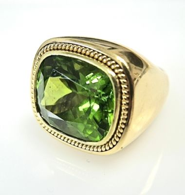 2015 ML Facets/Secrett Peridot Ring CFA1412155 78922B