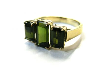 2015 ML Facets/Tourmaline Art Deco Style Ring CFA141271 78958