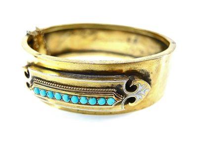 2015 ML Facets/Turquoise Bangle Bracelet CFA140689 78081
