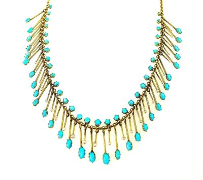 2015 ML Facets/Turquoise and Pearl Necklace CFA1406319 78153