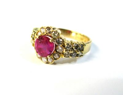 2015 ML Facets/Vintage Ruby and Diamond Ring CFA150308 79187