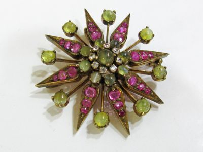 2015 other appraisers/Victorian  Multi Gem Starburst Brooch HWL109459AN 77629