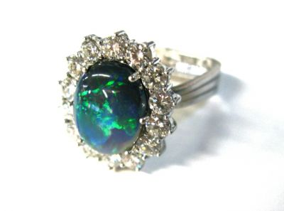 2015 other appraisers/Vintage Opal and Diamond Ring HWL114927AN 79339