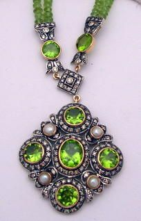 64253-64292/Peridot Necklace Cynthia Findlay CFA080347c