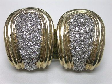 64539/Vintage Diamond Earrings Cynthia Findlay Antiques CFA090380