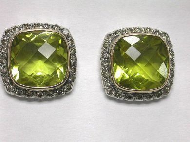64600-64650/Lemon Quartz Stud Earrings CFA090299