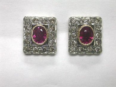 64600-64650/Ruby Stud Earrings CFA0902102
