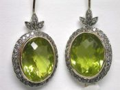 Victorian Style Lemon Quartz Earrings