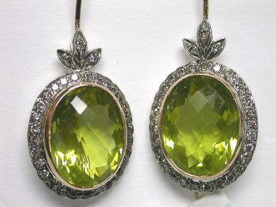 Victorian Style Lemon Quartz Earrings