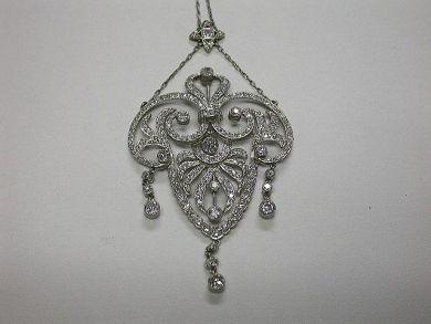 64700-64753/Edwardian Diamond Necklace-Cynthia Findlay Antiques-CFA090934