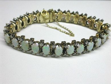 64754-64795/Antique opal braceletCFA100221
