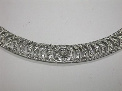 White Gold Diamond Graduated Necklace