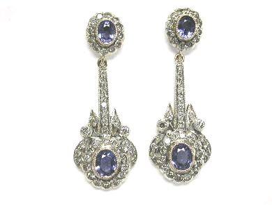 Charming Sapphire Drop Earrings