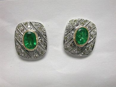 64796-64846/Classic emerald stud earrings CFA1005140