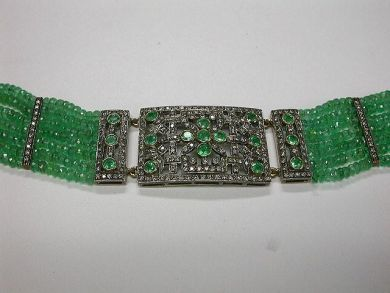 Custom Made Emerald Choker