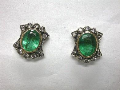 64796-64846/Unique emerald earrings CFA1005136
