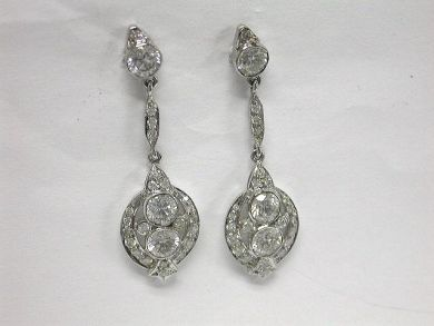 64847-64941/Classy Diamond Drop Earrings-CFA1005150