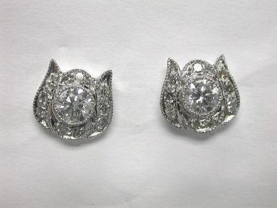 64847-64941/Stunning Diamond Stud Earrings-Cynthia Findlay Antiques-CFA1005148