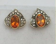 65164-October/Citrine and Diamond Earrings Cynthia Findlay Antiques CFA090226c