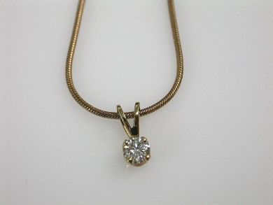 65168-November/Diamond Solitaire Pendant Cynthia Findlay AntiquesCFA110339