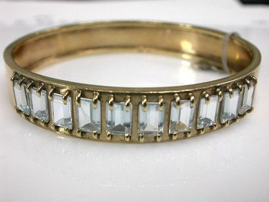 65510/Aquamarine Bangle Cynthia Findlay Antiques CFA110855